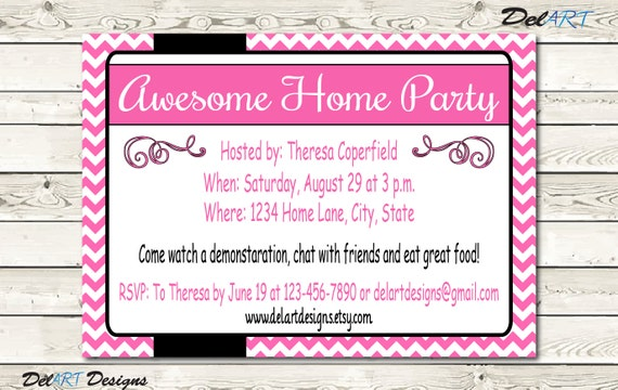 business flyer home party invitation bake sale small etsy