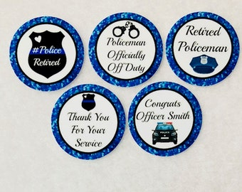 c3a57c45c Set of 50/100/150/200 Policeman Police Retirement 1 Inch Confetti Circles