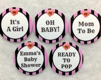 Set Of 50 100 150 200 Its A Girl Ready To Pop Baby Shower 1 Inch Confetti Circles