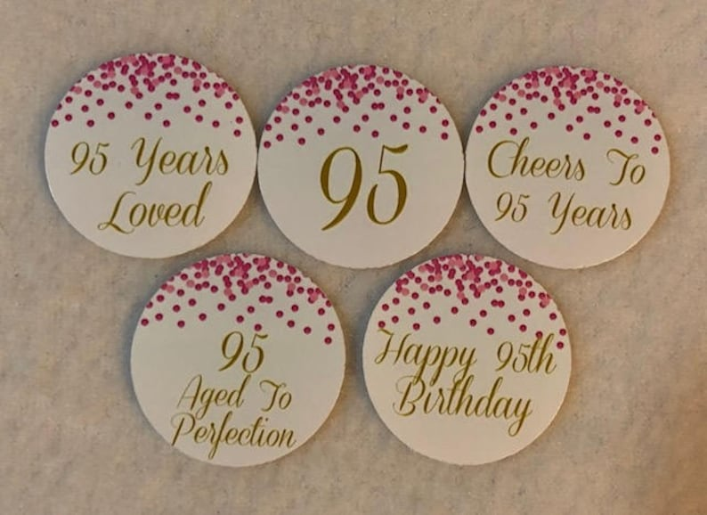 Set Of 50100150200 Personalized 95th Birthday Party 1 Inch Circle Confetti
