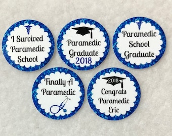 ANY YEAR Set of 50/100/150/200 Paramedic School Graduation 1 Inch Confetti Circles