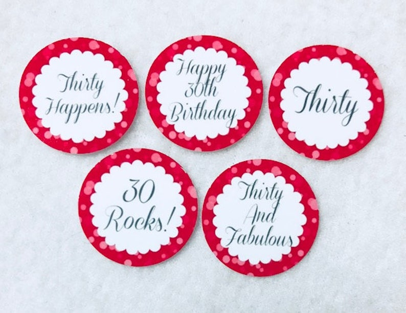 Set Of 50 100 150 200 Personalized 30th Birthday Party 1 Inch