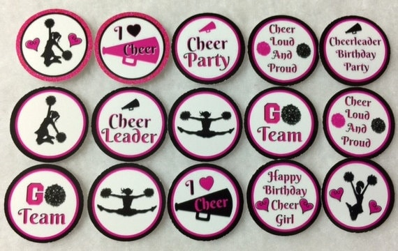 Set Of 50100150200 Personalized Cheer and Cheerleader Party 1 Inch Circle Confetti