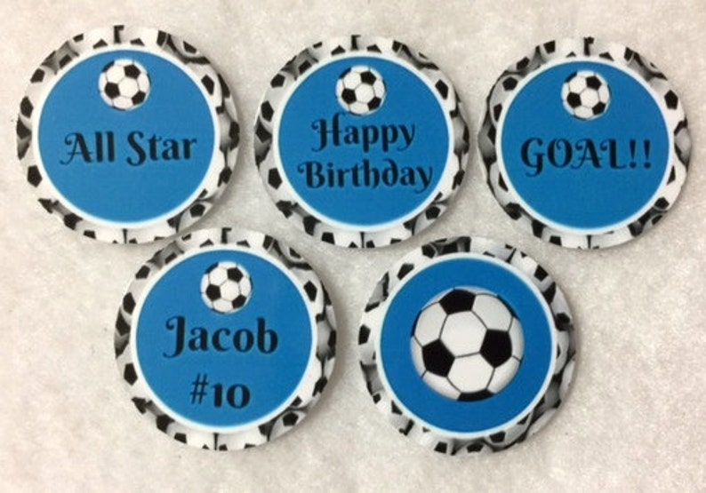 Set Of 50100150200 Personalized Soccer Birthday Party 1 Inch Circle Confetti
