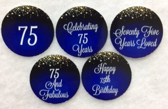 Set Of 50100150200 Personalized 80th Birthday Party 1 Inch Circle Confetti