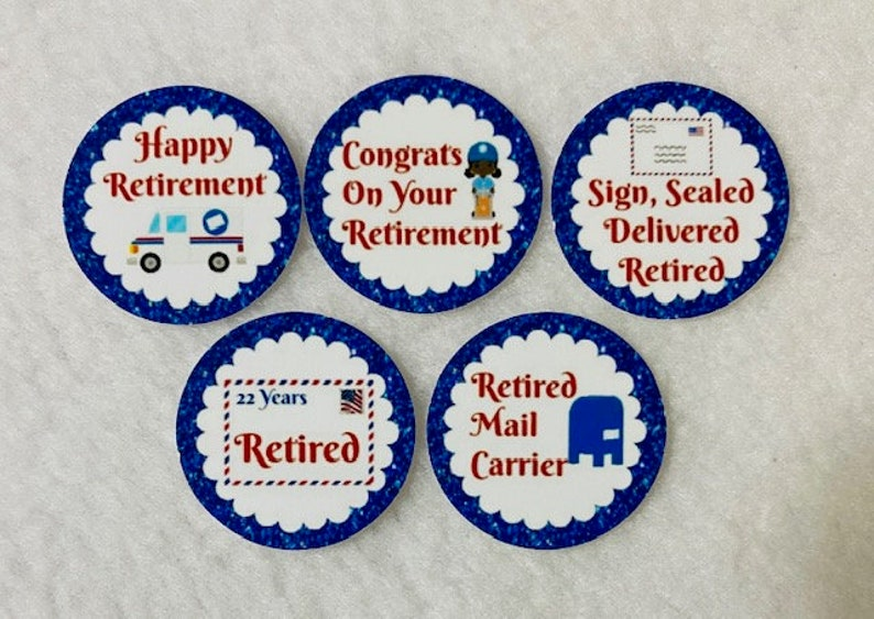Set Of 50100150200 Personalized African American Postal Mail Carrier Retirement Party 1 Inch Circle Confetti