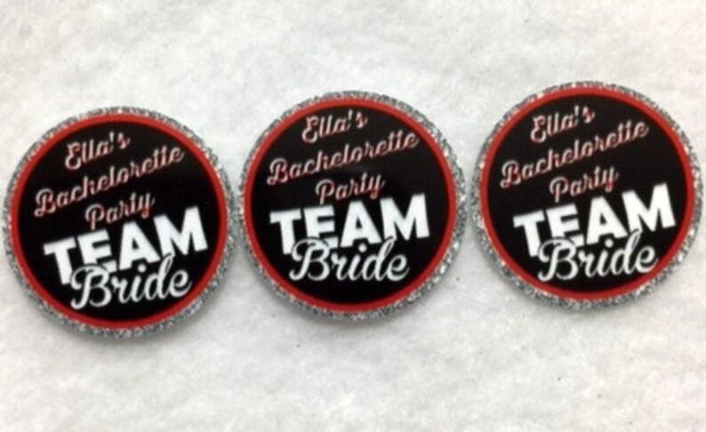 Set of 50100150200 Personalized Bachelorette Team Bride  1 Inch Confetti Circles