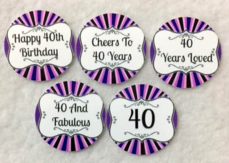 Set of 50100150200 Personalized 40th Birthday Party  1 Inch Confetti Circles