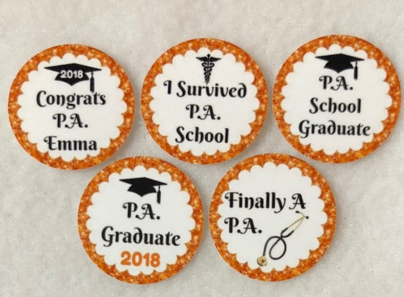 ANY YEAR Set of 50100150200  PA Physicians Assistant Graduation 1 Inch Confetti Circles