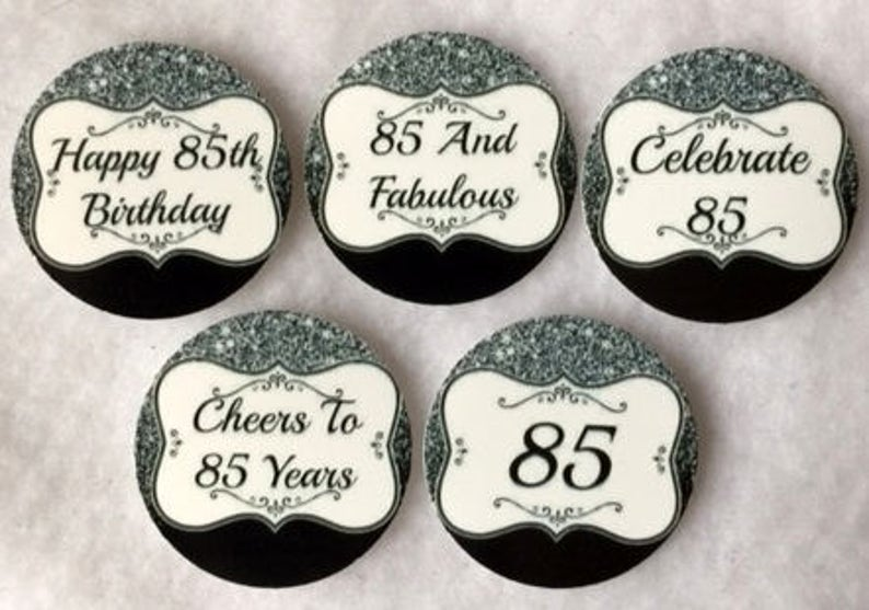 Set Of 50 100 150 200 Personalized 85th Birthday Party 1 Inch