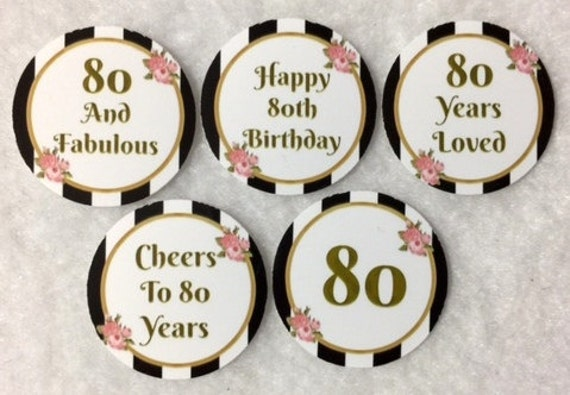 Set Of 50100150200 Personalized 90th Birthday Party 1 Inch Circle Confetti