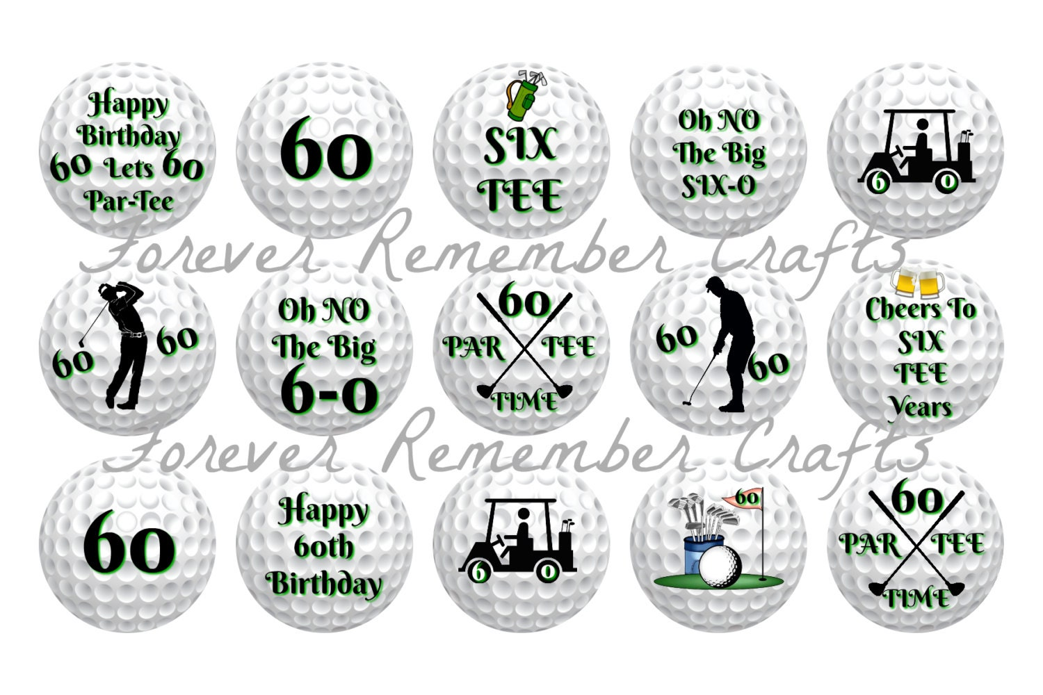 Instant Download Personalized Golf 60th Birthday Party Bottle Etsy