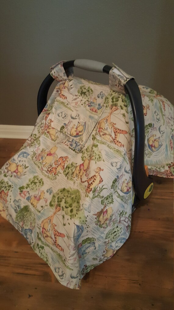 Winnie The Pooh Car Seat Cover With Window Infant Carrier
