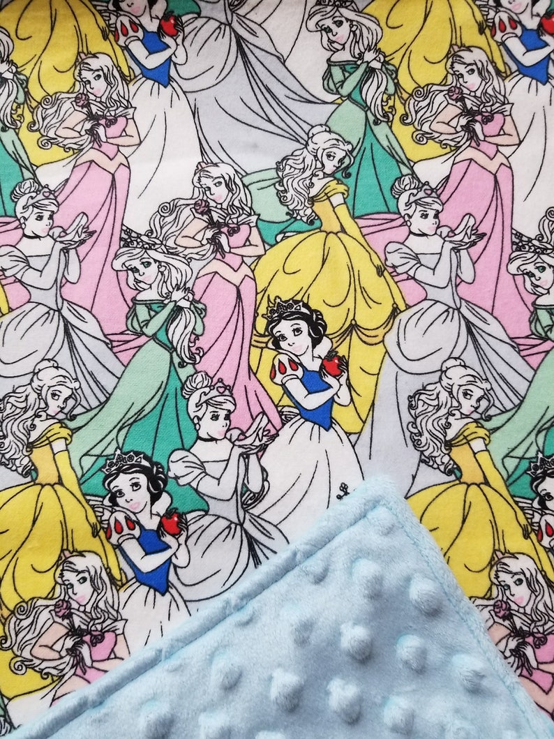 Disney Princesses Snow White Ariel White Extra Large Flannel Receiving Blankets