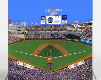 Ceramic Tile-Minnesota Baseball-Target Field Stadium-Tile Coaster-Art Tile-Ceramic Coaster-Decorative Artwork-Sport Stadium Art