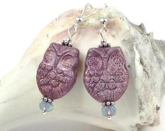 Owl Earrings | Bird Earrings For Her | Owl Jewelry For Women | Owl Gift For Women | Nature Earrings | Solana Kai Designs | Portland OR