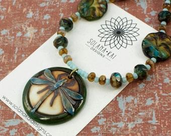 Nature Pendant Necklace For Women | Dragonfly Jewelry for Her |  Insect Jewelry For Her | Dragonfly Necklace | Solana Kai Designs | Portland