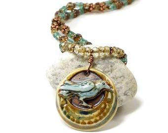 Raven Pendant Necklace | Bird Necklace For Her | Raven Jewelry For Women | Raven Bird Necklace | Solana Kai Designs | Portland OR