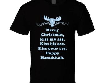 Kiss My Ass National Lampoons Christmas Vacation Moose Mug Quotes T Shirt