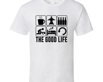 The Good Life Wingsuit Flying Extreme Sports Fan T Shirt