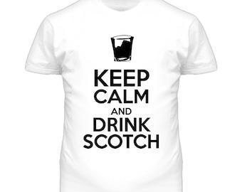 Keep Calm And Drink Scotch T Shirt