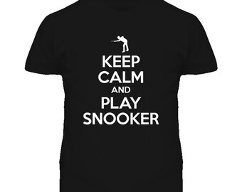 Keep Calm And Play Snooker T Shirt