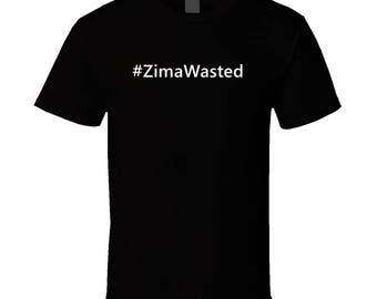 Hashtag Zimawasted Trending Zima Party T Shirt