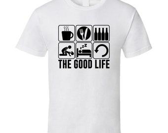 The Good Life Eating Food Hobbies Fan T Shirt