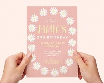 daisy invitations etsy