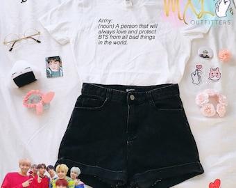 BTS ARMY Definition Kpop T-Shirt (By Maggie Liu)