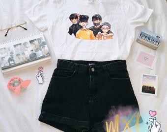 96 Line : Jun, Hoshi, Wonwoo, Woozi Kpop Seventeen T-Shirt (Design by Maiyumi00)