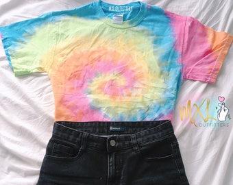 Pastel Rainbow Tie Dye T-Shirt