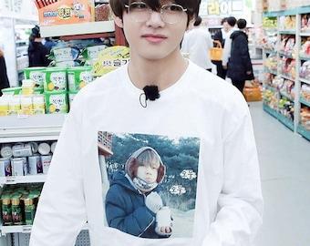 BTS Run Ep. 44 Taehyung / V meme long sleeve T-Shirt