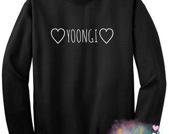 BTS Heart Yoongi Crewneck Sweatshirt