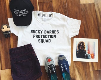 Bucky Barnes Protection Squad White T-Shirt