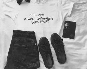 Black cameoflage war paint T-Shirt