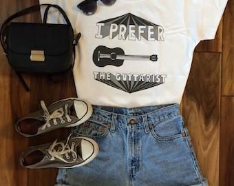 I Prefer The Guitarist T-Shirt © Design by Emma Gibson