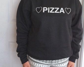 Pizza Graphic Crewneck Sweatshirt  © Design by Maggie Liu