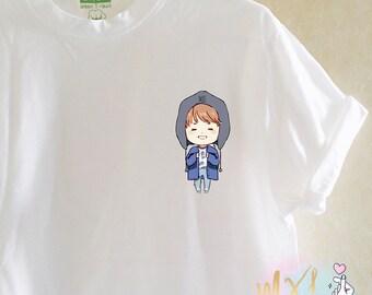 Pocket Chibi BTS TaeTae T-Shirt (Design by Yeooongi)