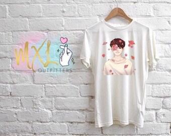Flower Boy Taehyung T-Shirt (Design by anaeiis)
