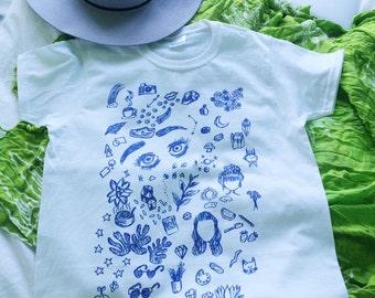 Blue Doodle t-shirt