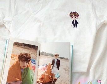 Pocket BTS chibi Jungkook T-Shirt (Design by Yoomint)
