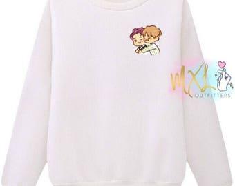 VMon T-Shirt // BTS Namjoon and Taehyung Crewneck Sweatshirt (Design by Yeooongi)