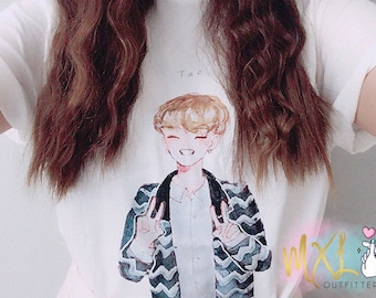 BTS watercolor Taehyung T-Shirt (Design by Yoomint)