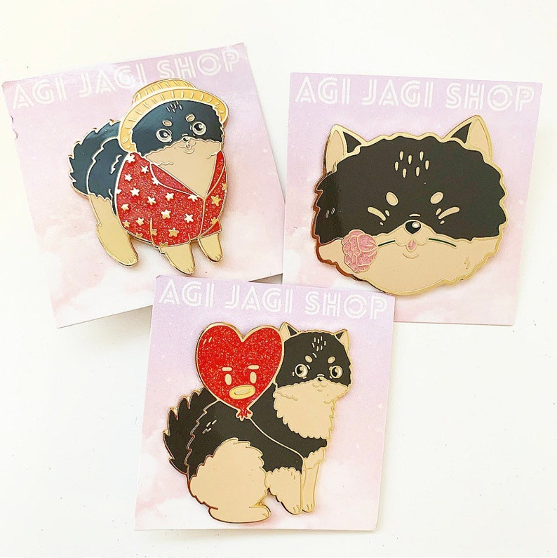 SECONDS SALE!!! Yeontan Enamel Pins BTS V Taehyung K-pop (discounted for  minor flaws)
