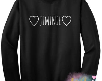 BTS Heart Jiminie Crewneck Sweatshirt