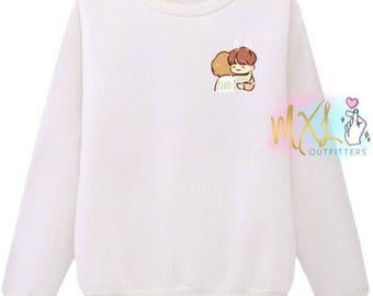 TaeKook T-Shirt // BTS Taehyung and Jungkook Crewneck Sweatshirt (Design by Yeooongi)