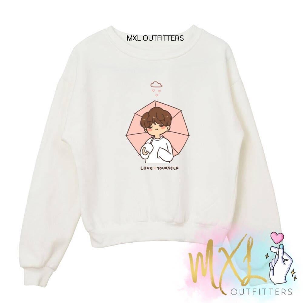 BTS Love Yourself Jimin Kpop Crewneck Sweatshirt ( Design by @Chaochoa on ig ) Blx0SrXeTF