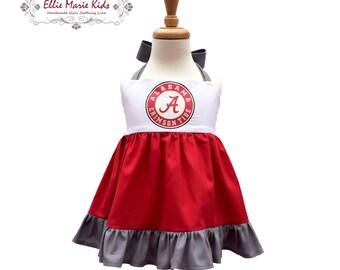 Girls Alabama Game Day Dress