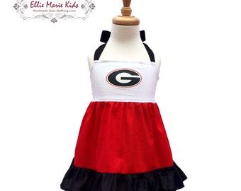 Girls Georiga Game Day Dress
